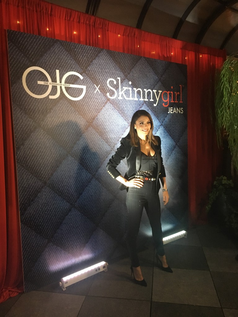 Vinyl wall graphic of OJG x Skinnygirl Jeans