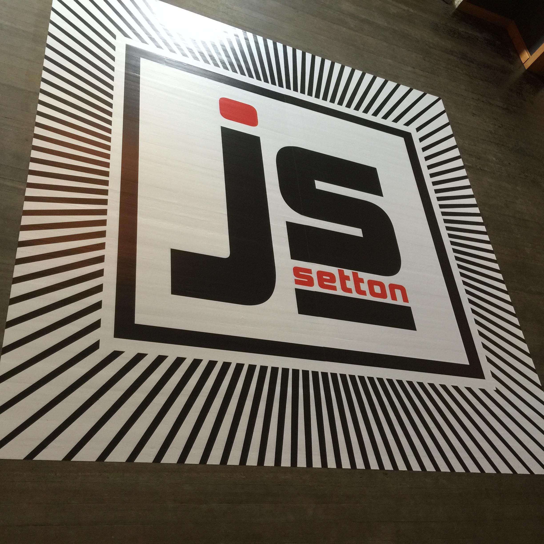 Examples of floor graphics, dance floor decals, and floor stickers from Bombshell Graphics.