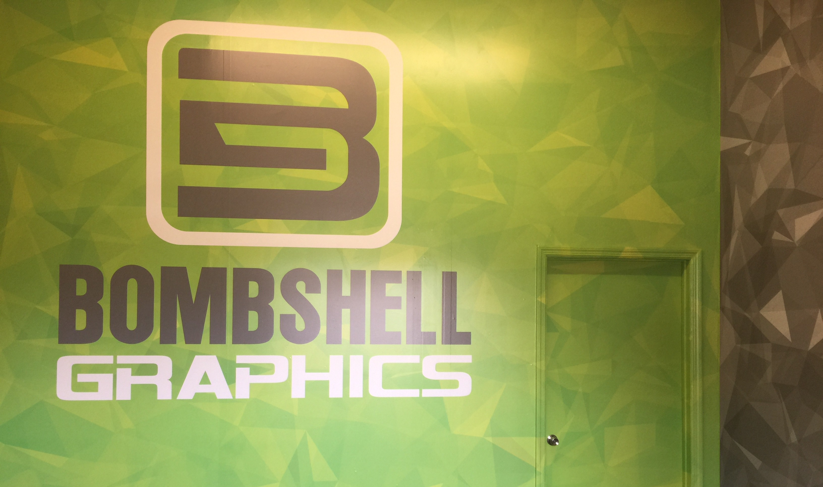Some wall graphics and wall monograms from Bombshell Graphics