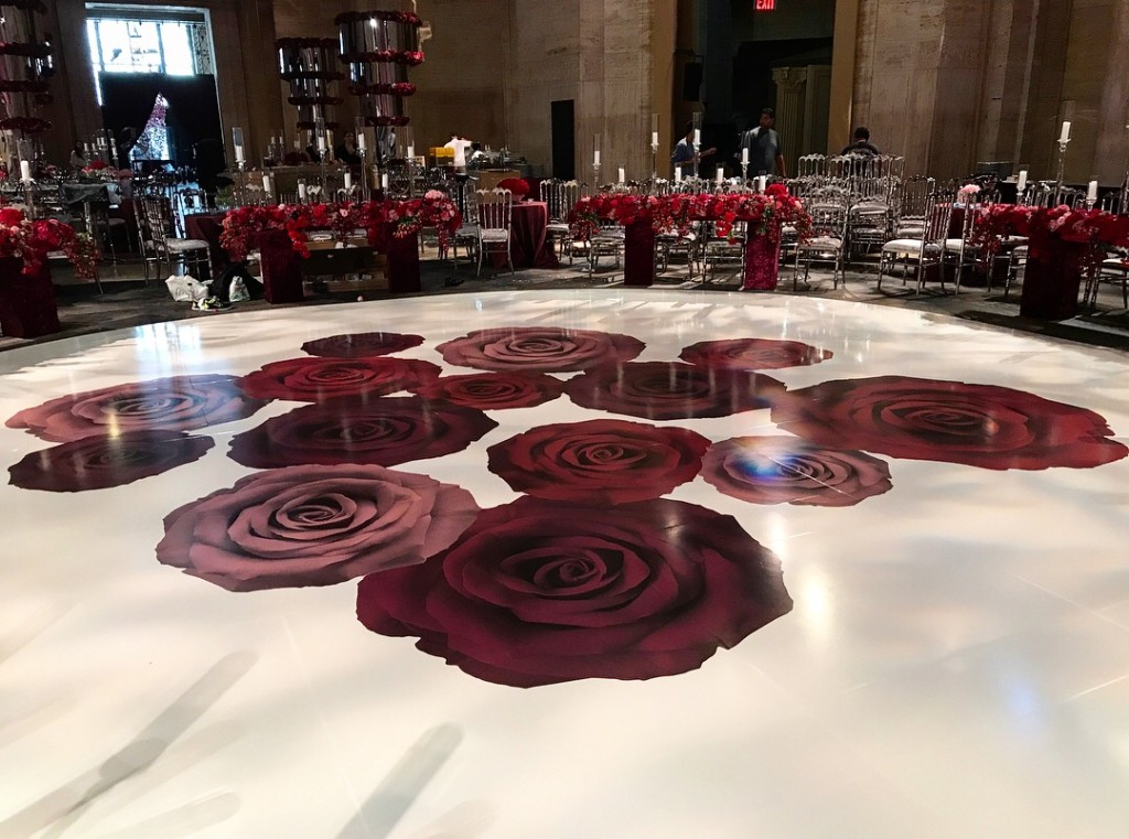 vinyl dance floor wedding
