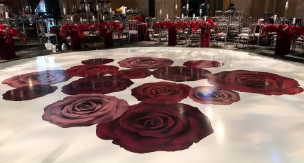vinyl dance floor wedding