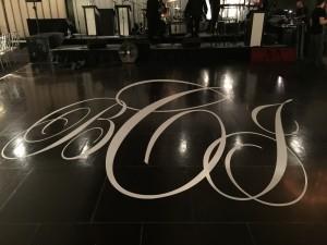 long island wedding floor decals